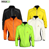 Breathable Reflective Bike Jersey Cycling Long UV Protecting Windproof Jacket Bicycle Riding Running Exterior Wear Wind Jacket