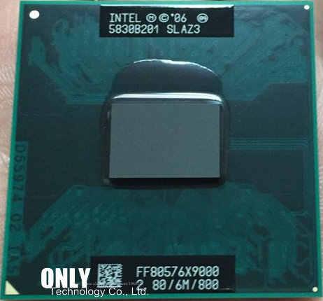 Procesador Original Intel Core 2 Extreme Top X9000 cpu, 2,8 GHz, 6MB, 800MHz, zócalo P, piezas rayadas para GM965 PM965 T9300 t9500
