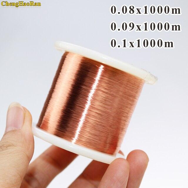ChengHaoRan fil de cuivre émaillé polyuréthane, 0.08mm x 1000 mètre, QA 1 155 mm, 0.08 m/pc, nouveau fil 1000