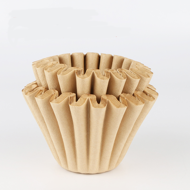 FeiC 50pcs Basket Coffee Filters For 1-4cups No Bleach Environmental Filter Paper Natural Brown For Drip Coffee For Barista