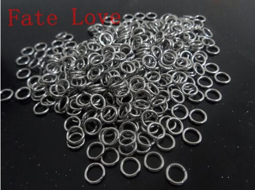 Jewelry & Accessories 1*5mm Lot Of 1000pcs Strong 316l Stainless Steel Jump Ring Suit For Diy Necklace Beads & Jewelry Making