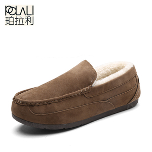 POLALI new men slippers cotton warm winter home slippers cotton-padded shoes wholesale snow boots