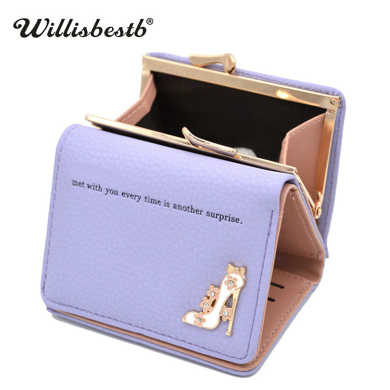 Mini Trifold Hasp Wallet Woman Luxury Leather Female Purse Fashion Designer Lady Wallets Coin Pocket Women Purses Card Holder cossroll flower embossing women wallets and purses trifold hasp wallet female long design clutch women s purse monedero mujer