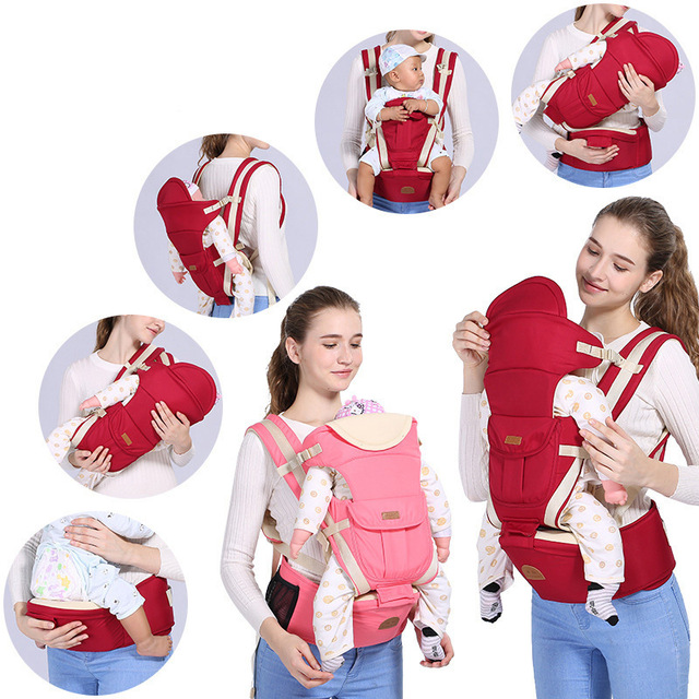 Ergonomic Baby Carrier Infant 3 In 1 Baby Hipseat Carrier Kangaroo Wrap for Baby Travel 0-48 Months Toddler Carrier Baby Hipseat