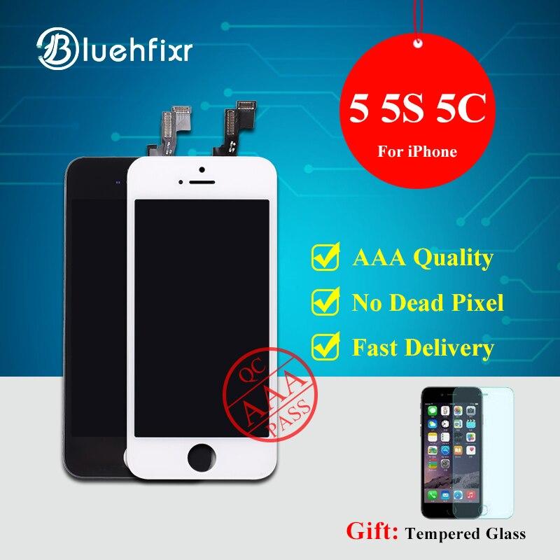 imágenes para A + + + Calidad de Visualización del LCD Para el iphone 5 5C 5S Pantalla Táctil el Montaje del digitizador Para el iphone 5S LCD de Repuesto de La Pantalla Libera la Nave