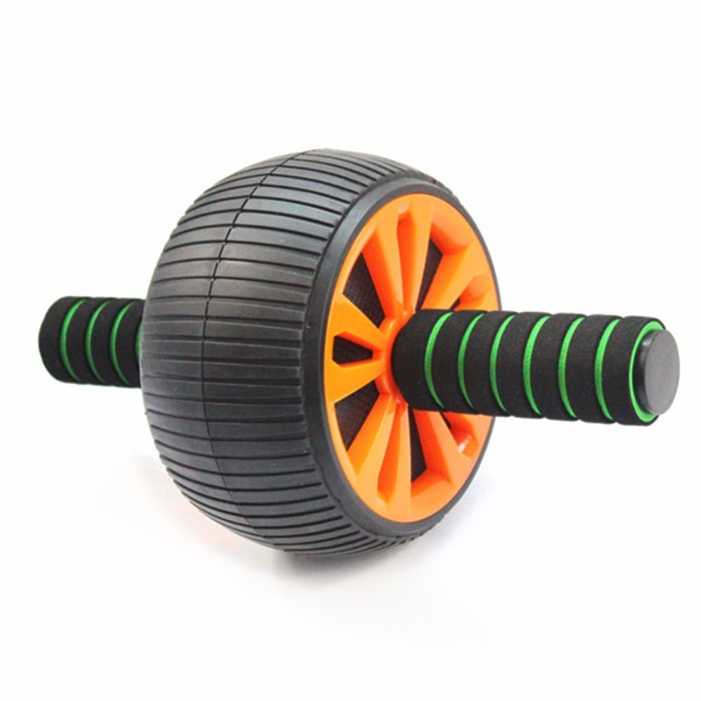 No Noise Abdominal Wheel Ab Roller Keep Fit Wheels Waist Arm Strength Exercise Crossfit Gym Home Fitness Equipment