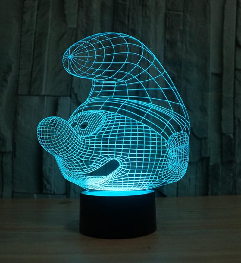 3d led night lights 7 light colors table lamps children bedroom lamp. Black Bedroom Furniture Sets. Home Design Ideas