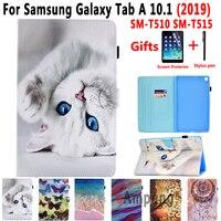 galaxy tab SM-T510 SM-T515 Case for Samsung Galaxy Tab A 10.1 2019 T510 T515 Cover Lid Soft Leather Case for Samsung Tab A 10.1 2019 Funda (1)