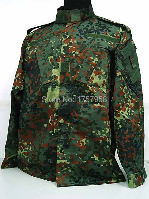 USMC German Woodland Camo ACU Style Uniform Set German Woodland Camo Shirts and Pants