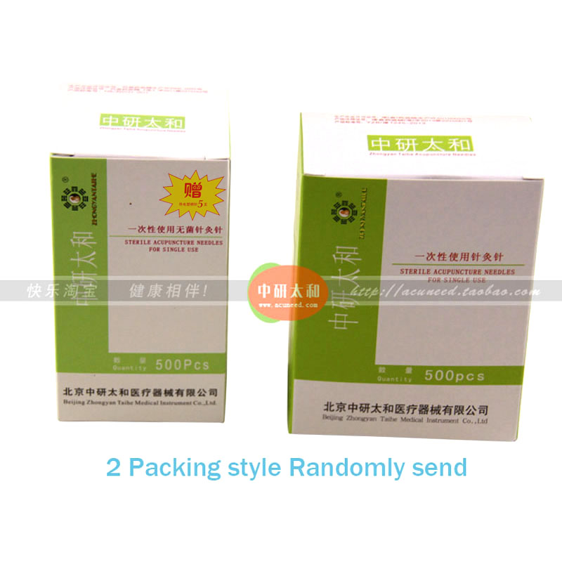 10boxes Disposable Sterile Acupuncture Needle For Single Use 500pc box with tube Stainless steel handle needle