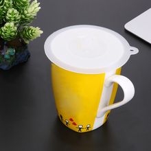 1 шт. белая силиконовая крышка термоизоляционная крышка для чашки кружевная Пылезащитная многоразовая крышка для чашки кухонная посуда герметичная силиконовая крышка