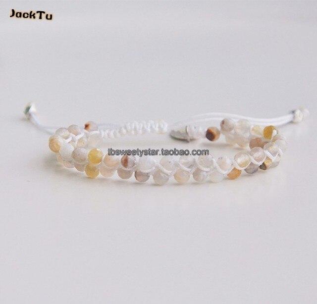 Опал бусины белый нейлона ручной браслет обруча