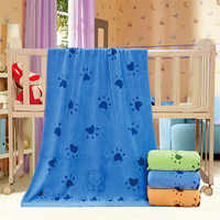 35*75cm Dog Cat Puppy Pet Towel Microfiber Strong Absorbing Water Bath Goods for Pets Towel Dry Hair Dog Towels
