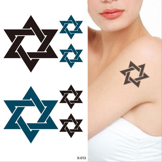 1pcs Waterproof Temporary Tattoo Sticker Body Tattoo Stickers Six Stars Flash Henna Tattoo Sticker Women Body Arm Tattoo Sticker