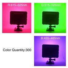 Mcoplus Color Video Light White+RGB LED Photography Light 300 Different Colors 1500LM 5700K Ra96 Photo Studio Video Light