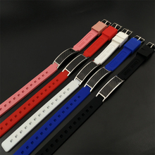 Free Shipping Men's Bracelet Carbon Fiber Magnetic Health Care stainless silicon