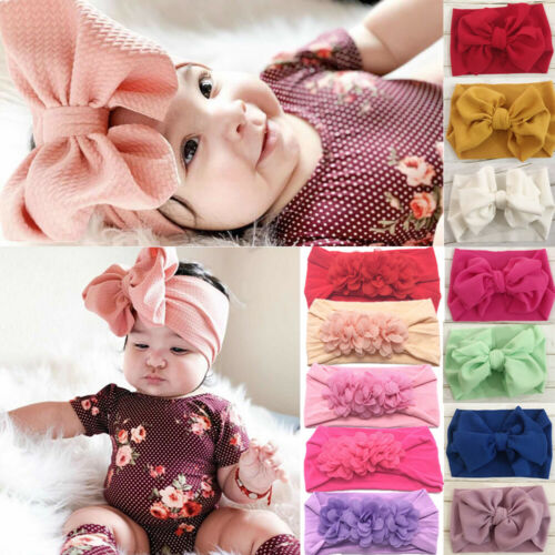 2019 Brand New Infant Headband Newborn Toddler Baby Girl Boy Headwear Solid Bowknot Soft Turban Knot Hairband Baby Shower Gifts