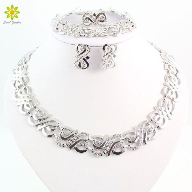 African Beads Jewelry Sets Crystal Necklace Set Nigerian Wedding Accessories Bri