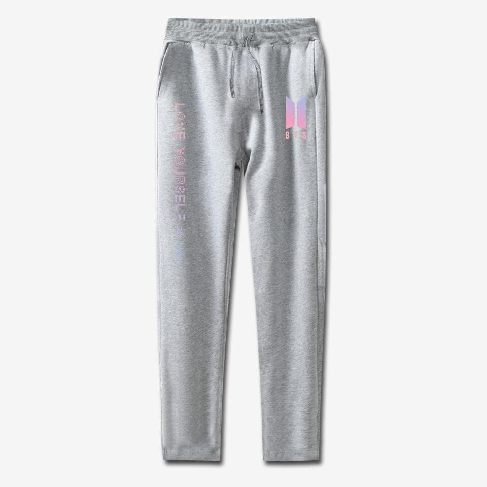 BTS KPOP pants 100% cotton love yourself Trousers casual Sweatpants Jogger Pants slim fit k-pop men and women clothes to quality