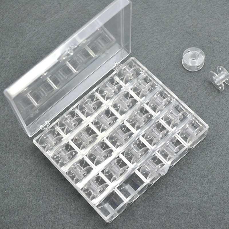 1/25 шт. Кристальный Пластик 25 бобины катушки для швейных машин с резьбой чехол для хранения ящик домашние инструменты для шитья швейная фурнитура