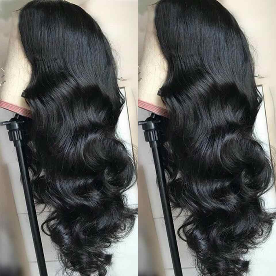 Stilly 4x4 парик с закрытием шнурка бразильский объемный волнистый кружевной передний парик человеческих волос предварительно сорвал с волосами младенца Remy парик шнурка фронта