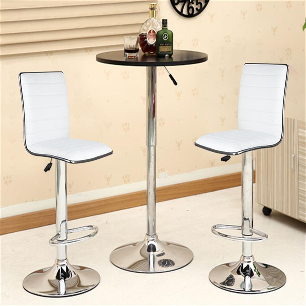 Adjustable 2PCS/Set Lift Rotating Swivel Bar Stool Simple Bar Chair Modern Dining Chair Nordic Bar Chair Home Furniture HWC