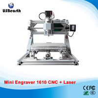 Mini PCB Milling Machine Cnc 1610 Diy Cnc Machine 2500MW Laser