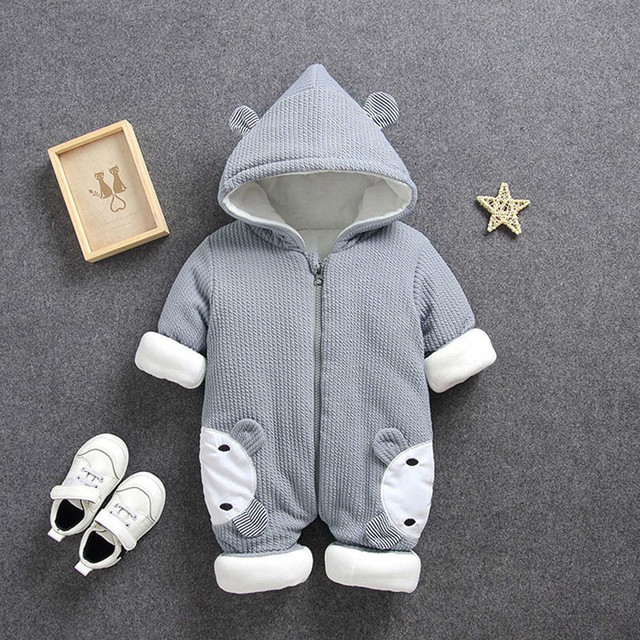 0343803e6da5 2018 Autumn Winter Coat Jumpsuit Baby Clothing Newborn Snowsuit Boy ...