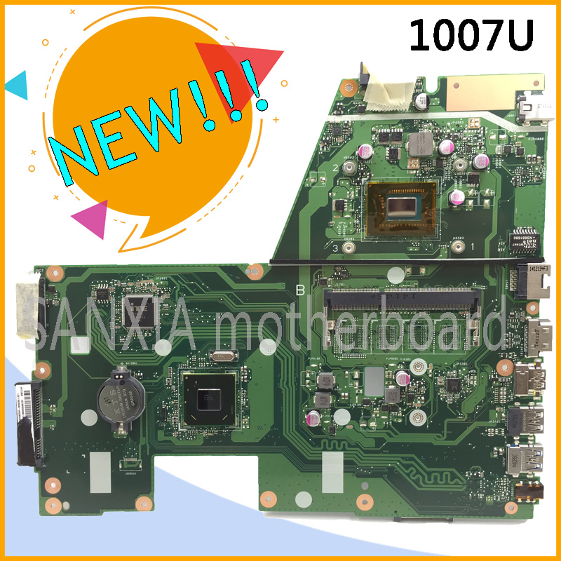 SHELI original X551CA laptop motherboard for ASUS X551CAP motherboard tested notebook in stock 1007U processor new mainboard