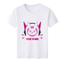 2018 New Arrival T Shirt Men for Lovely OW DVA Rabbit D.VA O-Neck Printed T-shirts Short Sleeve Tee Shirts