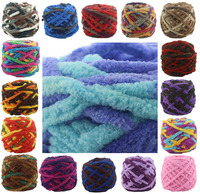 100g 1 Ply Soft Milk Cotton Polyester Blended Yarn Chunky Chenille