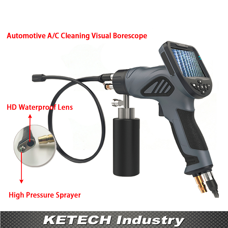 Car Visual Cleaning Video Endoscope Air Conditioner Evaporator Washing Inspection Borescope Water Gun Aircon Cleaner Videoscope 4 3 inch air conditioner cleaning spray av handheld endoscope