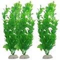 3-Piece fish tank aquarium plants aquarium Decoration 10.6-Inch, Green