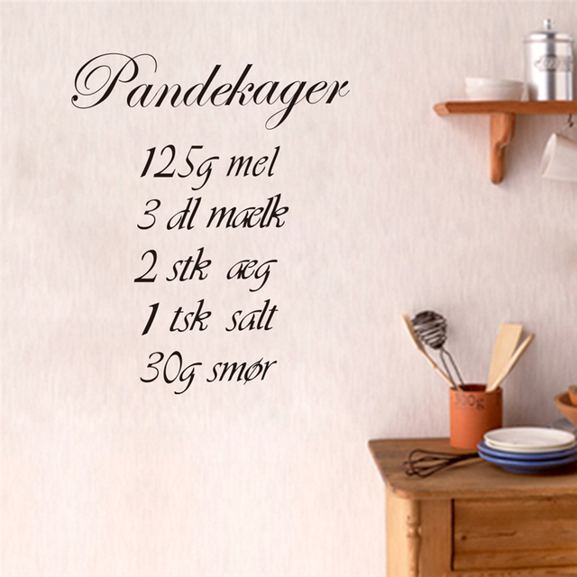 Pandeckager Formula Wall Art Decals For Kitchen Room Diy Home Decor Removeable Stickers Black Quality