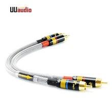 UU12 2 teile/para HIFI 4N-OFC RCA Kabel Männlichen-Stecker Audio Kabel/0,2 m 0,5 m 1 m 1,5 m