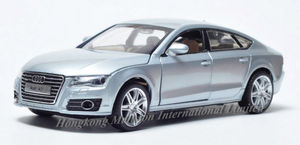 Image 3 - 1:32 Scale For Audi A7 Sportback Luxury Licensed Diecast Metal Alloy Collectible Collection Car Model Sound&Light Toys Vehicle