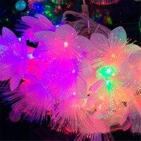 Fata 10 m 50 led Luci Tenda Della Stringa di Illuminazione LED A Fiber Ottiche Capodanno Natale Garland Lampadario luminaria di Nozze Lampada