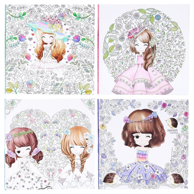Secret Garden Children Kids Coloring Book Girls Ancient Style Drawing Books Graffiti Painting