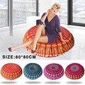 80*80 cm sofa decorative cushions Mandala Floor Pillow Round Bohemian Meditation Cushion emoji Ottoman Pouf pillow smiley C0605