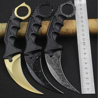 SHNAPIGN Camping Knife CS GO Counter Strike Machetes Karambit Knife Fixed Stainless Steel Blade Mutli Knife