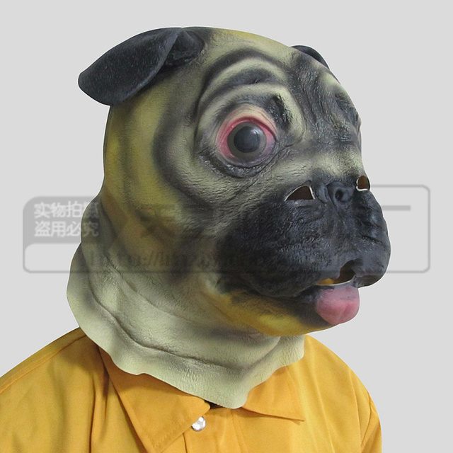 hot 100 eco friendly latex magic costume realistic latex adult pug