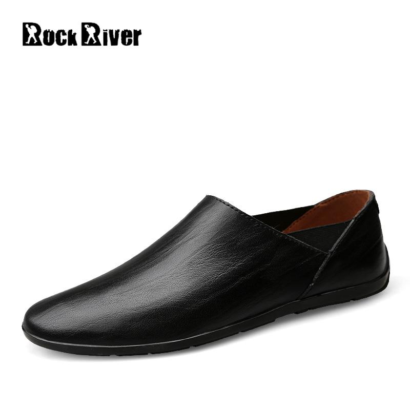 Rock River Genuine Leather Men Shoes Handmade, Slip On Soft Mens Shoes Casual Loafers, Driving Flats Moccasins Shoes Men handmade genuine leather men s flats casual haap sun brand men loafers comfortable soft driving shoes slip on leather moccasins
