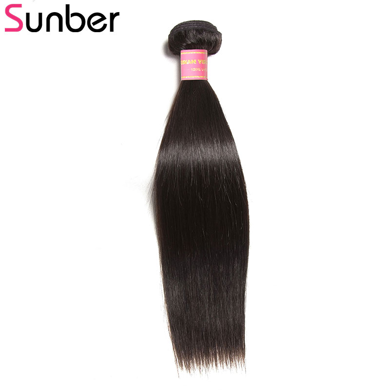 Sunber Hair Malaysian Straight Human Hair 1Piece Deal 100% Remy Hair Weave Bundles 8-30 Inch Natural Color Hair Extensions