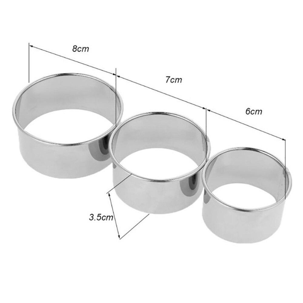 6 шт. из нержавеющей стали для приготовления пельменей, форма для изготовления круглого Клецка, Серебряный многоцелевой Практичный Нож#4J20