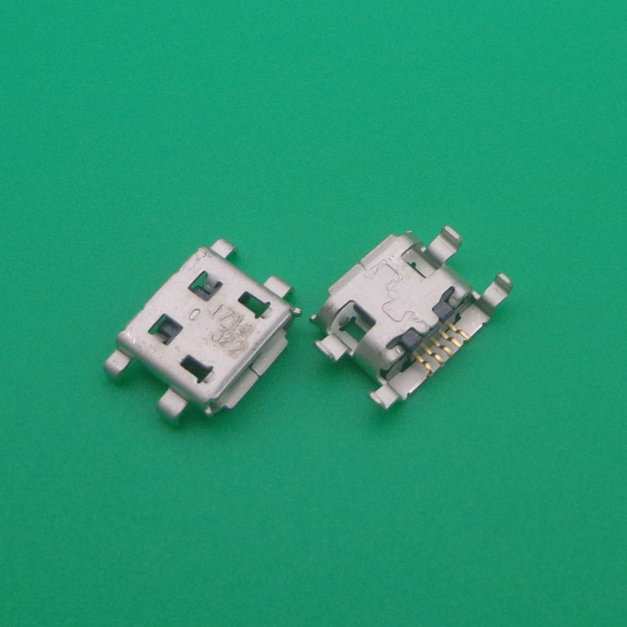 US $6 86 10% OFF|50pcs Charging Connector Micro USB Port Dock Connector For  Cricket ZTE Score X500 for Alcatel one touch Fierce 7024W-in Connectors