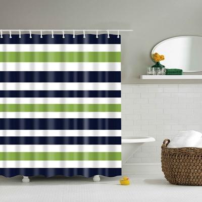 Красочные в радужную полоску узор занавески для ванной комнаты Водонепроницаемый полиэстер экологичный душевая Шторы s20 - Цвет: TZ161207