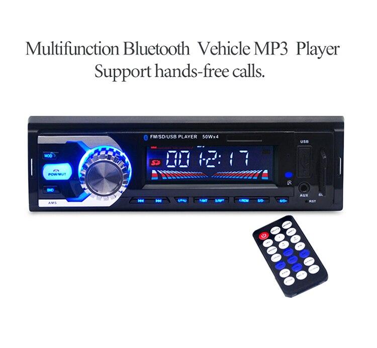 12 V Del Coche Del Bluetooth de Radio Estéreo Del Coche AUX-IN MP3 Reproductor d
