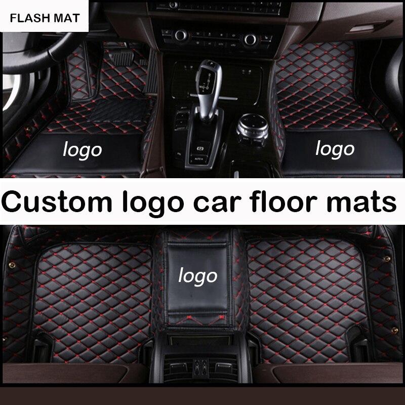 Custom LOGO car floor mats for Jaguar All Models Jaguar XF 2008 2017 XE XJ F