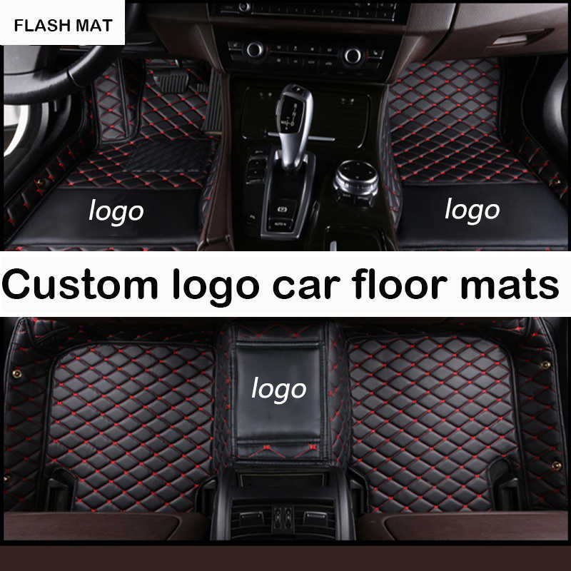 Custom LOGO car floor mats for Jaguar All Models Jaguar XF 2008-2017 XE XJ F-PACE F-TYPE auto accessories car mats