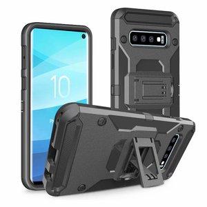 Image 2 - Uyfrate Shockproof Riemclip Holster Volledige Beschermende Armor Case Voor Samsung Galaxy S10 Plus S10e Note 10 Plus Note9 S9Plus s8 S7